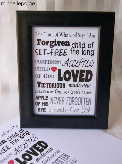 Free Christian Printable of God's Truths