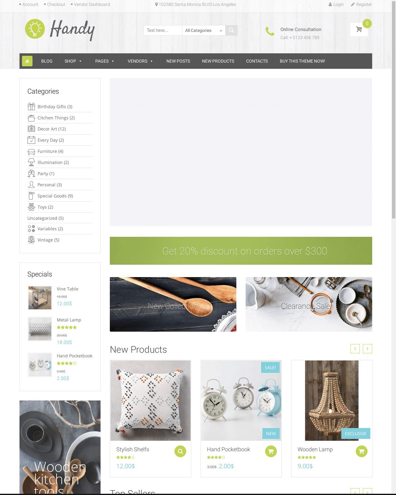 Handy  Handmade Items Marketplace Theme
