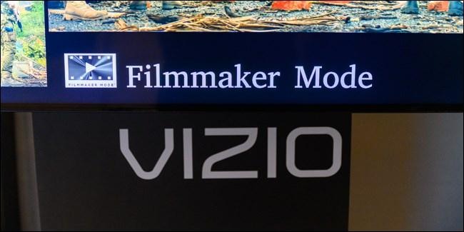 عرض Vizio's Filmmmaker Mode في معرض CES 2020.