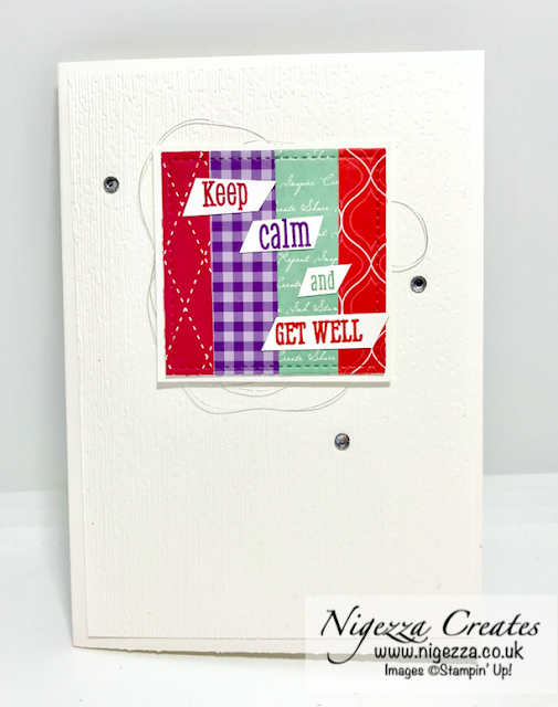 Get well card Stampin Up
