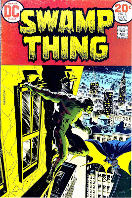 Swamp Thing v1 #7 1970s bronze age dc comic book cover art by Bernie Wrightson
