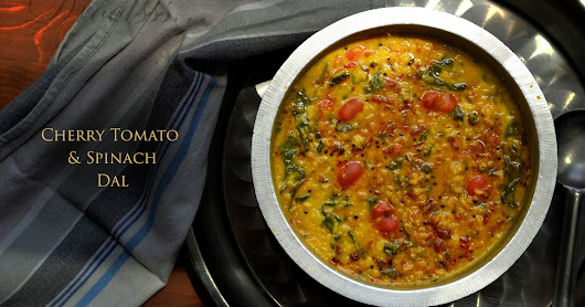 Cherry tomato and spinach dal