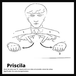 Sinal de Priscila da bíblia