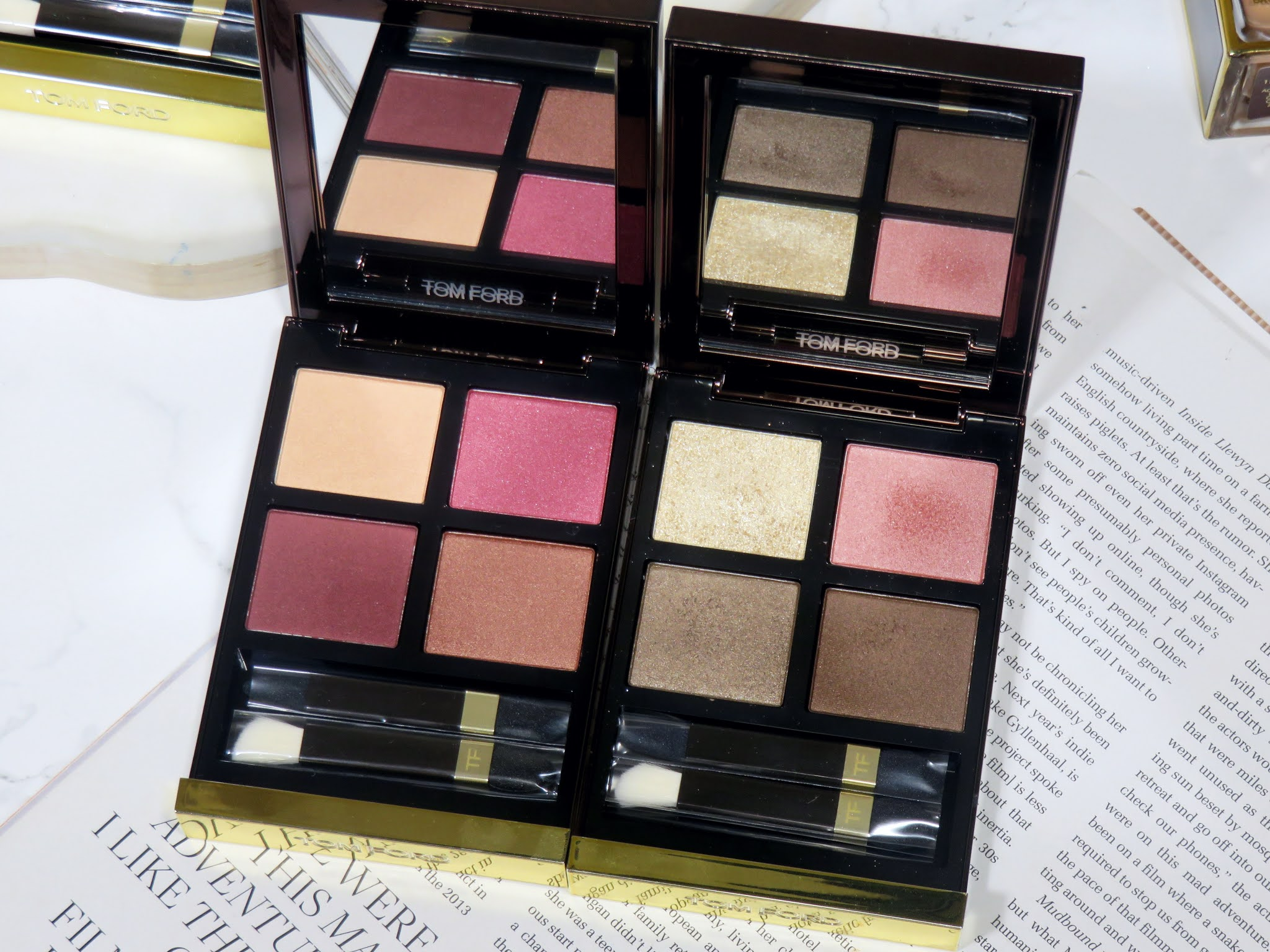 Tom Ford Burnished Amber Eye Color Quad Review and Swatches