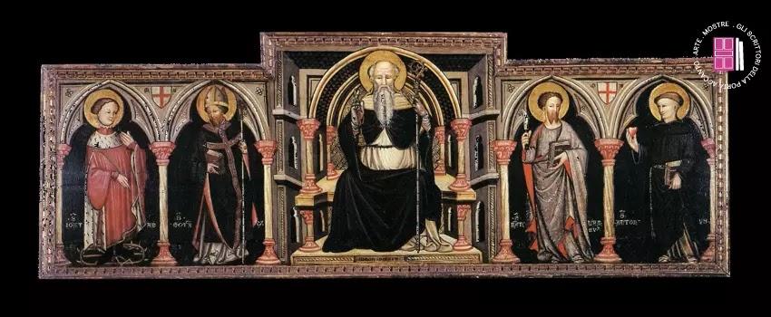 Simone da Cusighe | Polittico dedicato a Sant'Antonio abate