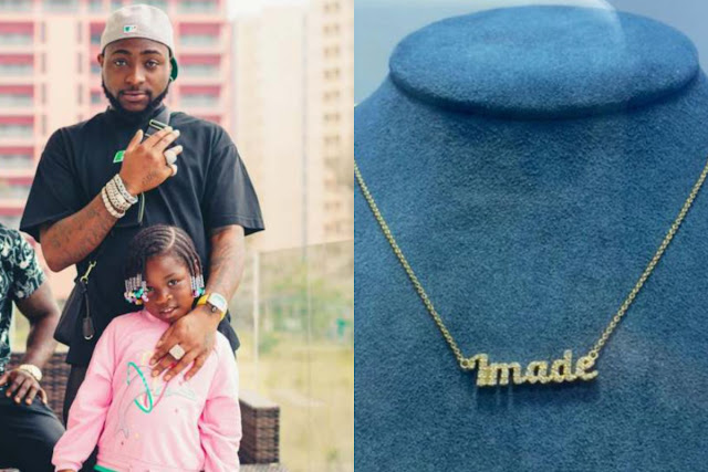 Davido buys a Pendant that worth Millions of naira for his daughter, Imade (Photos)