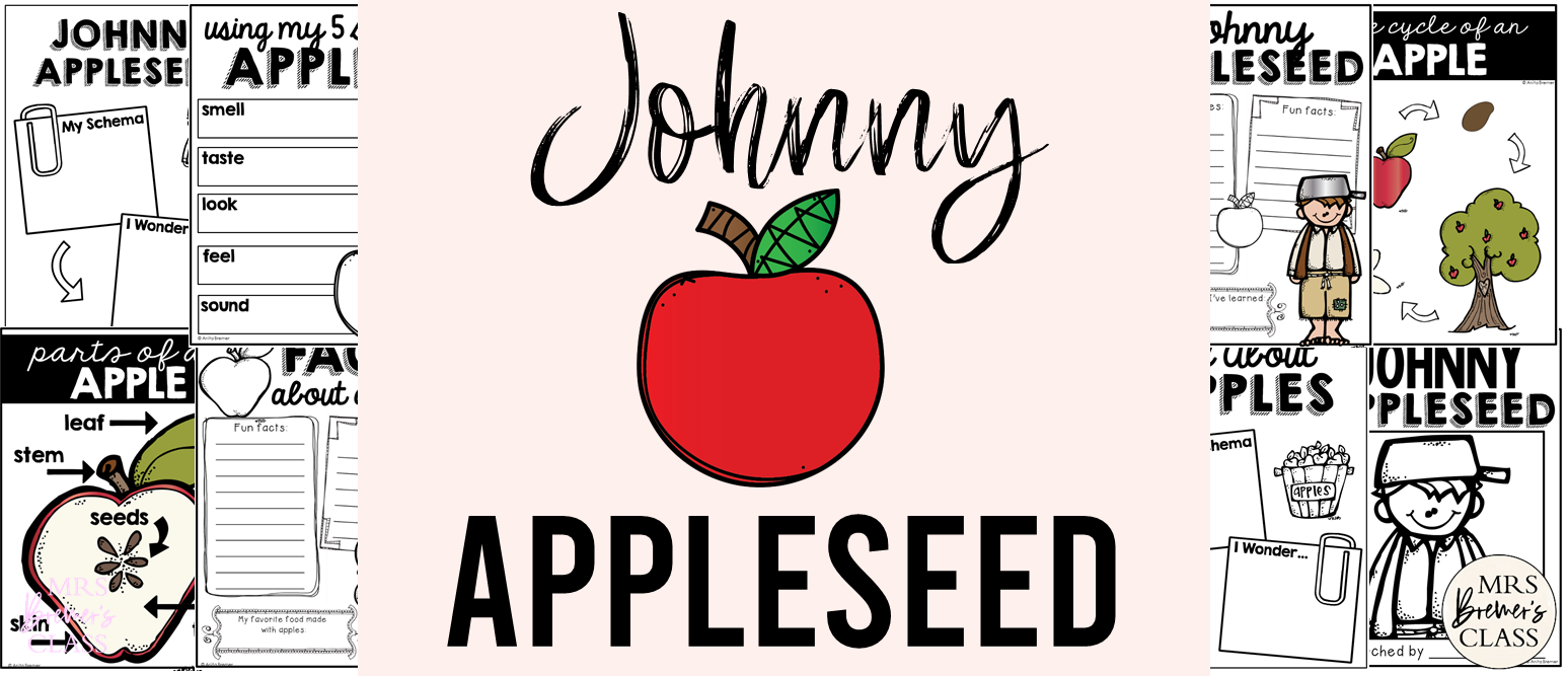 All About Johnny Appleseed and Apples! Perfect activities for the fall season. This educational unit is filled with informational learning charts, graphic organizers, anchor chart headers, and student response pages. It's fun to learn about Johnny Appleseed and apples during the fall season! Students will enjoy the legend and story behind Johnny Appleseed, and will love to learn the life cycle of a fall favorite…apples!