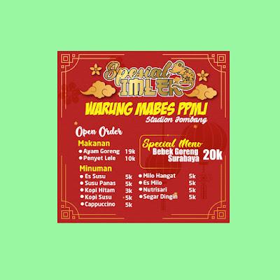 Banner Warung Promo Spesial Imlek