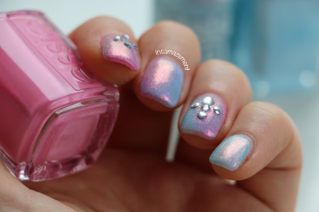 Mermaid Holographic 3D Nail Art