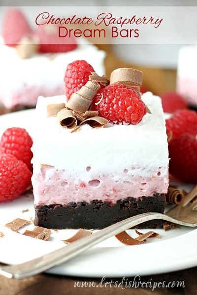 CHOCOLATE RASPBERRY DREAM BARS