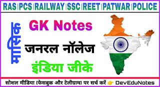 India gk notes