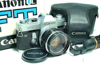 Canon FT QL (Chrome) Body #883, Canon FL 50mm 1:1.4 #098