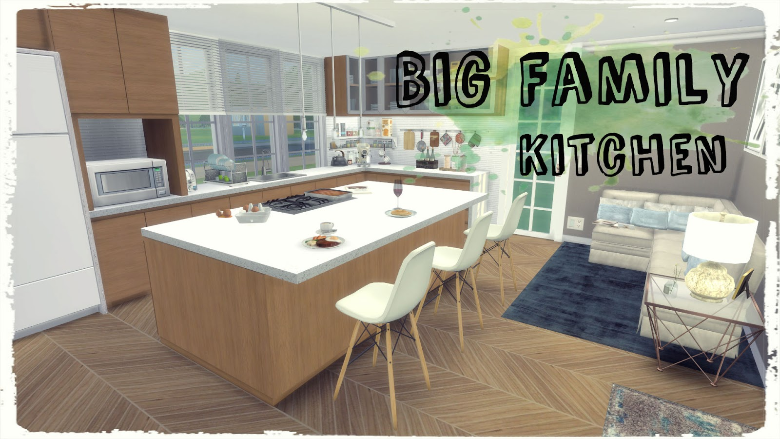 Home Architec Ideas Big Sims 4 Kitchen Ideas