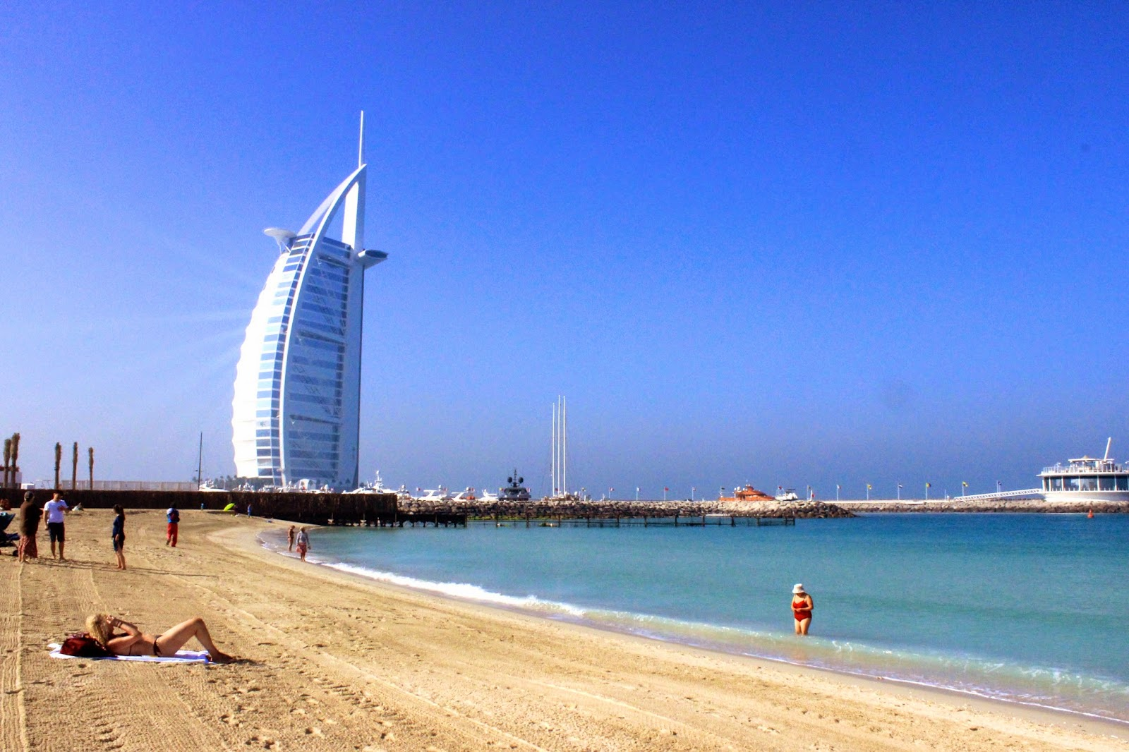 Burj Al Arab from Jumeirah Beach, Dubai, UAE