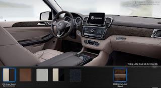 Nội thất Mercedes GLS 400 4MATIC 2015 màu Vàng Ginger/Nâu Espresso 215