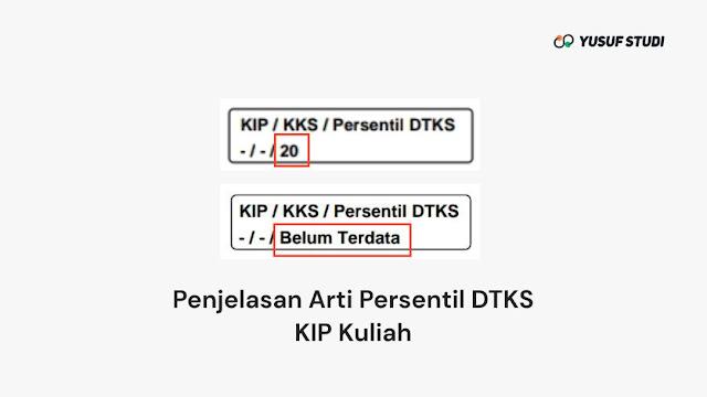 Arti Persentil DTKS KIP Kuliah