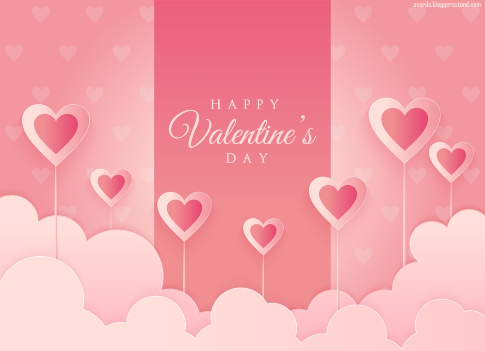 Happy valentine's day images with heart pink color wallpapers hd download for love