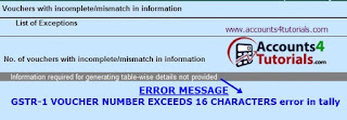 how to know gstr1 error in tally