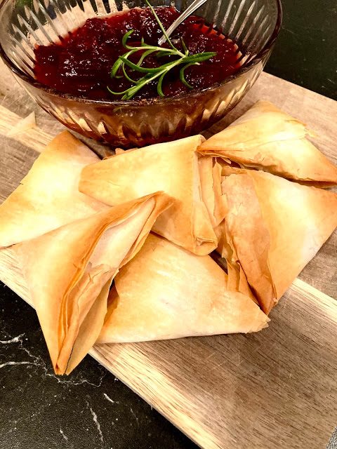 Cranberry and Brie Phyllo Pastries