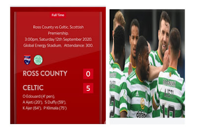 Celtic defeats Ross County as Patryk Klimala makes it 5-0 in the Scottish Premiership match