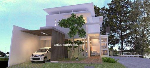 Desain rumah pojok unik modern