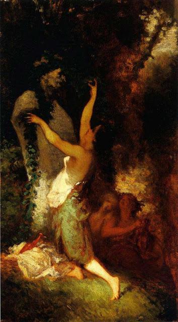 Жан Франсуа Милле - Жертвоприношение Пану. 1845