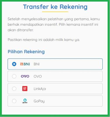 Sambung Rekening Kartu Prakerja dan Transfer ke Rekening Kartu Prakerja