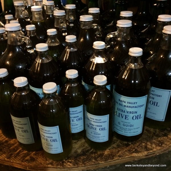housemade olive oil at Napa Valley Olive Oil Manufacturing Co. in St. Helena, California