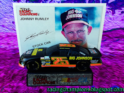 Johnny Rumley Big Johnson Racing Champions 1/64 NASCAR diecast blog 1995 Shelmerdine win