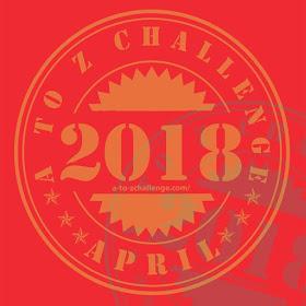 #AtoZchallenge 2018 logo