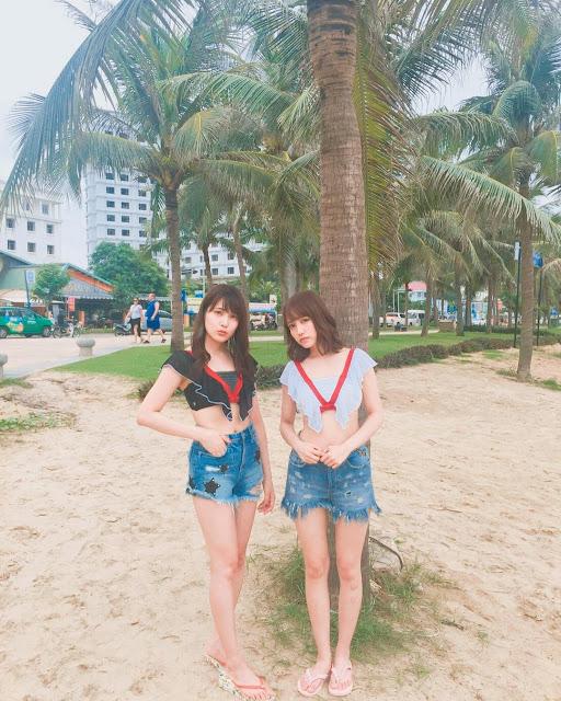 Hai nữ thần tượng AKB48 (Nhật Bản) ghi hình trải nghiệm du lịch tại Đà Nẵng
