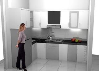 Kitchen Set Warna Putih Abu Abu - Desain Interior Kitchen Set Semarang