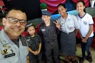 POLÍCIA MILITAR REALIZA FORMATURA PROERD EM ILHA COMPRIDA DE 180 ALUNOS