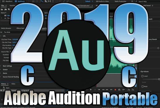 تحميل برنامج Adobe Audition CC 2019 Portable اخر اصدار نسخة محمولة مفعلة بحجم صغير