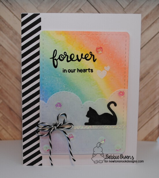 Furr-ever in our hearts by Debbie features Furr-ever Friends, Sky Borders, and Frames & Flags by Newton's Nook Designs; #newtonsnook