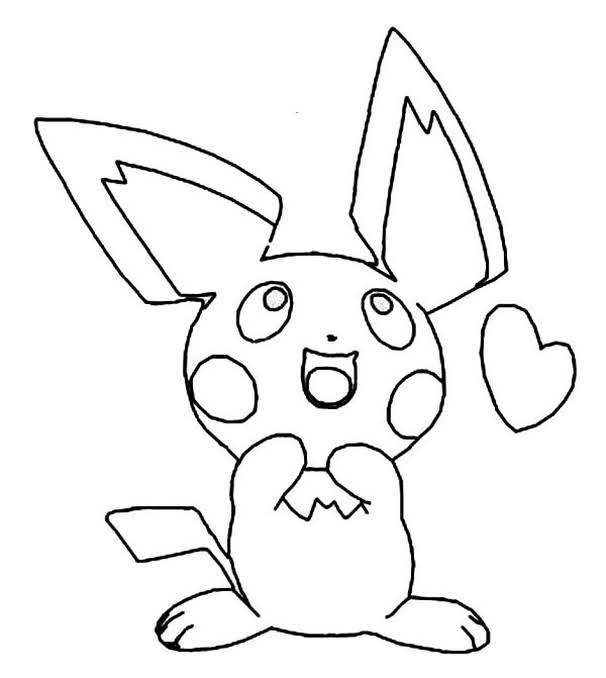 Pokemon Pichu Coloring Pages To Print