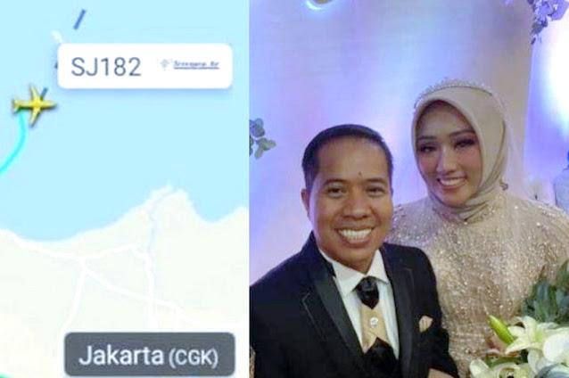 Innalillahi, Baru 2 Bulan Menikah, Pasangan Pengantin Baru Ini Menjadi Korban Sriwijaya Air SJ-182