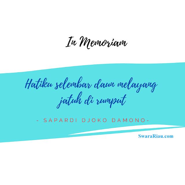 Quotes Sapardi Djoko Damono