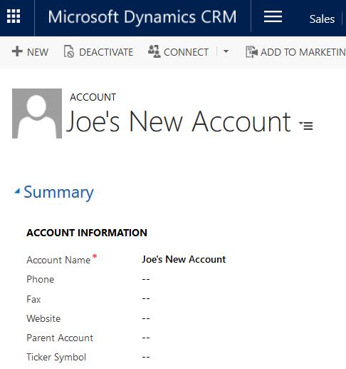 JoeGill com: Simple Dynamics CRM Console Application