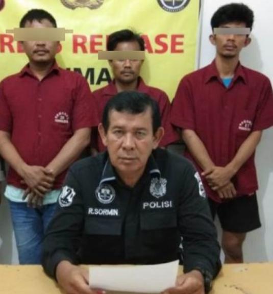 Tiga tersangka narkoba di Sibolga.