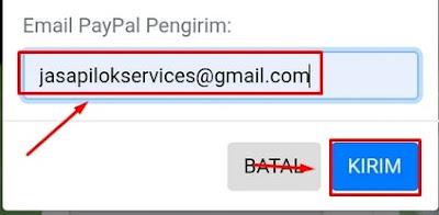 Alamat Email Pengirim Dollar Paypal