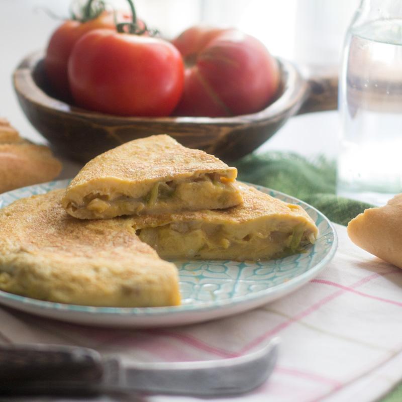 receta de tortilla de lechuga
