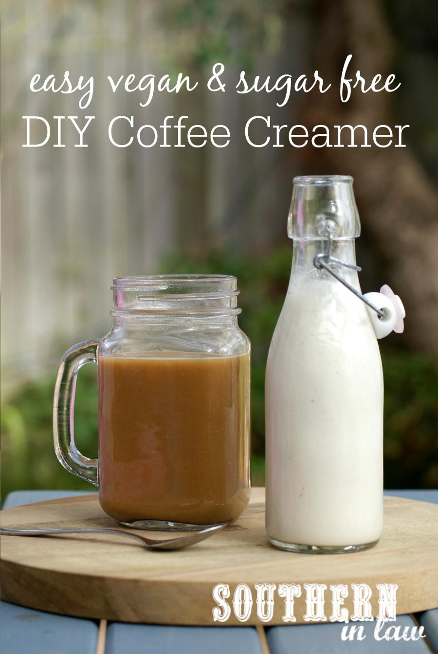southern in law: recipe: easy vegan diy coffee creamer (or sweet cream!)