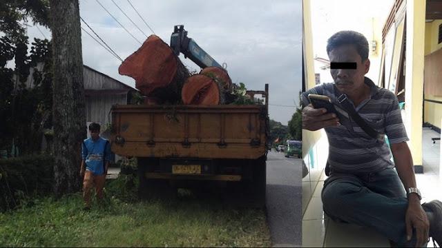 Bah GASWAT! Oknum PNS Dishut Provsu Pelaku Ilegal Loging Diamankan Polres Simalungun