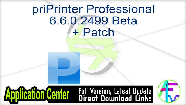 priPrinter Professional 6.6.0.2499 Beta + Patch