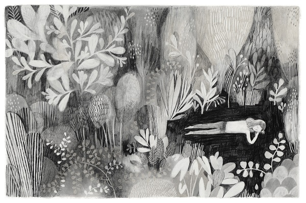 Ilustraciones de Isabelle Arsenault | black and white illustration art drawing, imagenes bonitas, dibujos de emociones y sentimientos, hermosos, depresion, realidad onirica.