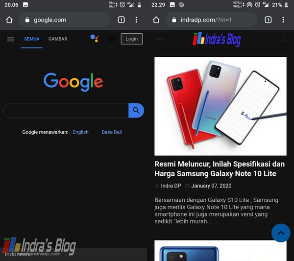 Cara Mengaktifkan Dark Mode di Google Chrome Android