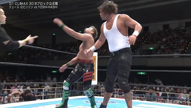 YOSHI-HASHI vs. Juice Robinson at G1 Climax 30