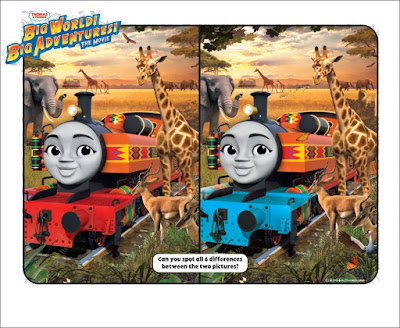 Thomas and Friends Puzzle:  Spot the Difference Nia