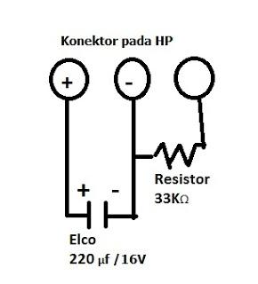 Skema Cara Menghidupkan HP Hanya Dengan Charger Tanpa Baterai